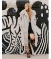 Paris**Light Grey Faux Fur Coat