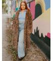 Britney** Leopard Print Faux Fur Coat