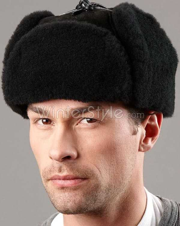 Shearling Sheepskin Trapper Winter Hat